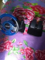 Volante e pedal do PS2.e PS3