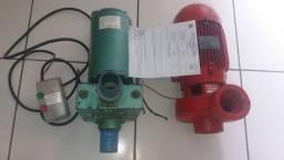 2 Bombas Profissionais para Irrigação, sendo 1 de 5 cv e outro de 3 cv