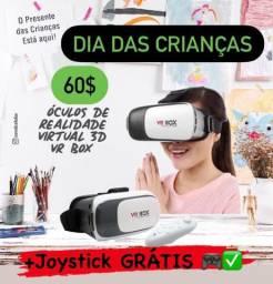 Oculos Vr Box Oculos Realidade Virtual Oculos 3d Android Ios Com Controle