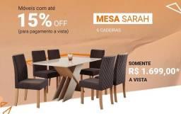 Mesa com 6 cadeiras barata