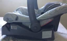 Bebê conforto burigotto touring cinza com base