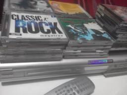 Gravador de dvd Philips e cinquenta cds originais