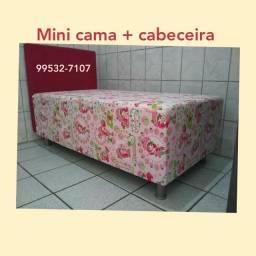 Míni cama infantil + Cabeceira (Direto fabrica)  FRETE GRÁTIS