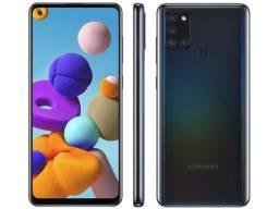 Smartphone Samsung Galaxy A21s 64GB 4G - 4GB Ram 6,5? Câm. Quádrupla + Selfie 13MP