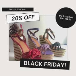 Black Friday de sapatos e sandálias shoes novos