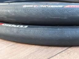 Título do anúncio: Par pneus specialized speed 700x23 kevlar usados
