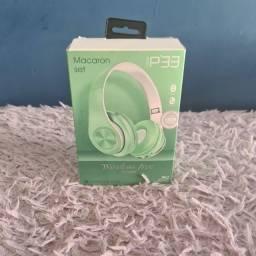 Título do anúncio: Fone De Ouvido Bluetooth Macaron P33 Verde-Entrega Grátis
