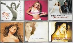 Mariah Carey 6 CD singles importados (frete grátis)