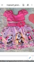 Vestido Panda Vários Tamanhos