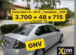 Fiesta Sed 1.6 - 2013_ GNV _ 2º Dono _ Completo _ 2021 ok