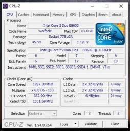 Processador Intel Core 2 Duo E8600 (top da categoria)
