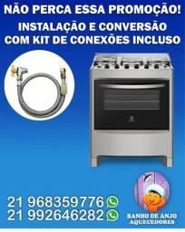 Instalação e conversão de fogões
