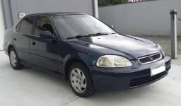 Honda Civic Automático Ano 98.Troca moto,carro menor valor,passo cartão crédito