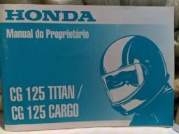 Título do anúncio: Manual CG Titan