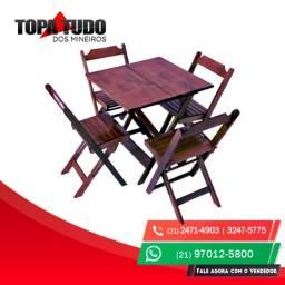 Jogo de Mesa 70x70 com 4 cadeiras RJ