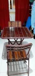 Conjunto dobráveis mesa com 2 cadeiras