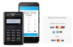 Máquina de passar cartão Mercado pago