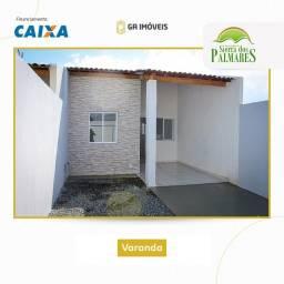 Título do anúncio: Lindas casas novas em Palmares, Pernambuco, 2 quartos, amplo quintal por apenas 130mil!