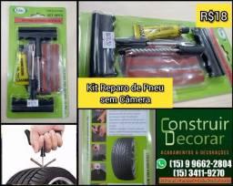 Título do anúncio: Kit Reparo Remendo Para Pneu Sem Câmara Carro Moto