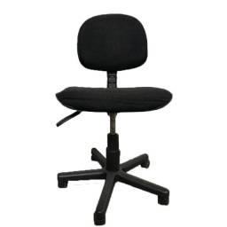 Cadeira giratória para escritório em tecido preto estado de nova