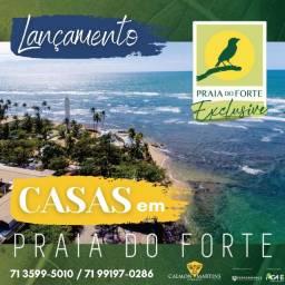Praia do forte, casa com 3/4 em 136 m² - Espetacular
