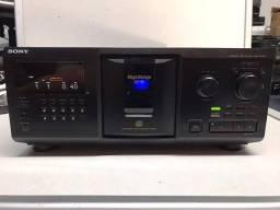 Título do anúncio: Reprodutor de CD 300 Sony CDP-CX355 Mega Storage CD em perfeito estado