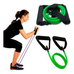Extensor Elastico Tensão Power Tube Para Malhar Academia Ombro, Biceps, Triceps e Glúteos