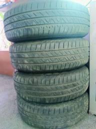 Jogo de rodas ferro aro 15 com pneus continental Onix LT 2020 Original