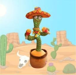 Título do anúncio: Brinquedo engraçado de cacto mexicano que dança, canta, repete sua voz, iluminação.