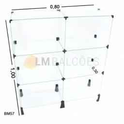 Balcão De Vidro Temperado 4mm\ ? 0,80 X 1,00 X 0,30