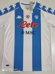 Camisa Napoli Maradona Kit Kappa 20/21 - Tamanhos: P, M, G