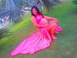 Título do anúncio: Vestido pra buque de grávida