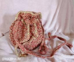 Bolsa de Crochê Vermelha com Palha coleção Fashion