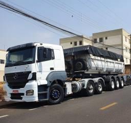 Título do anúncio: Caminhão trucado Mercedes Benz Axor 2540 S com carreta LS