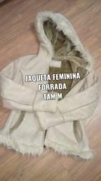 Jaqueta camurça forrada tam M $70