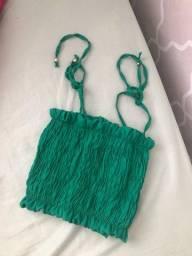 Cropped verde lastex