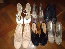 Lote 6 pares de Sapatos Femininos Tam 39- novos e semi novos
