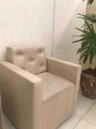 Cadeira de manicure e poltrona para salão