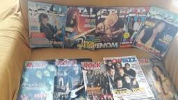 Revistas de rock 10 unidades.  70 reais