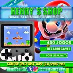 Mini game portátil com 400 jogos na memória