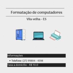 Serviço de formatação de computadores
