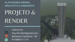 Título do anúncio: Projeto de arquitetura e renderização de imagens