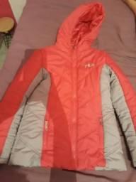 Jaqueta da fila rosa com cinza