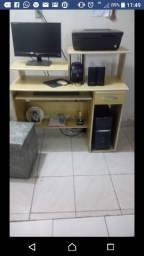 Computador de mesa com impressora HP