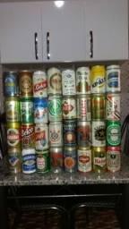 Coleção de latas de cerveja antigas lacradas década de 90