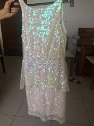 Vestido Lantejoula Branco FURTA COR