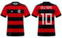 Camisa Time Futebol - Flamengo - Vasco - outros - Camisa Time Personalizada Com Seu Nome