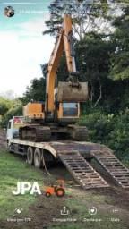 Escavadeira Hyundai + Caminhão Titan