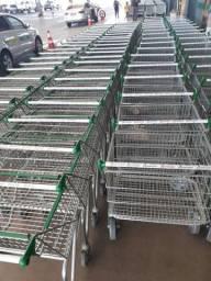 Carrinho de supermercado cesto e prancha