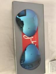 Lente rayban azul espelhada degradê ORIGINAL